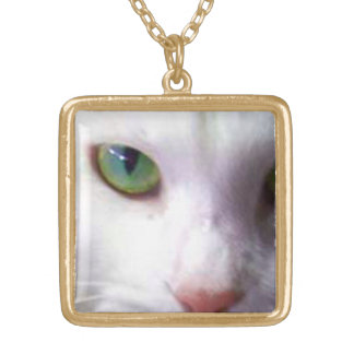 Green eye personalized necklace