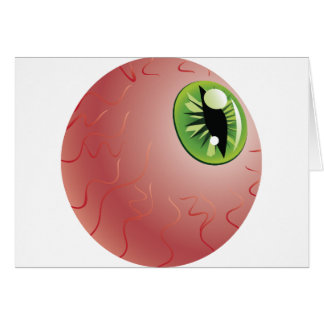 Green Eye of a Monster Greeting Card
