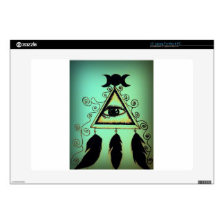 Green Eye of Providence Laptop Decal