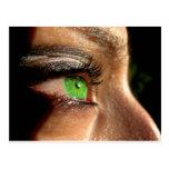 Green Eye Postcard
