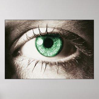Green Eye print