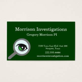 Green Eye Private Investigation Business Card