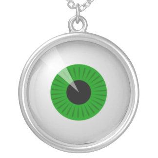 Green Eye Round Pendant Necklace