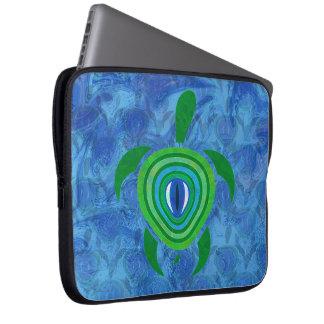 Green Eye Turtle Laptop Sleeve