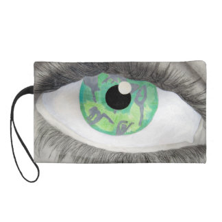 Green Eye With Dancer Silhouettes in Iris Wristlets