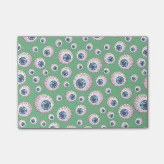 Green eyeball pattern post-it® notes