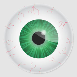 Green Eyeball Sticker