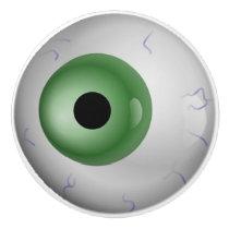 Green Eyeball Zombie Drawer Knob