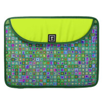 Green 'Eyeballs' Psychedelic Retro Tiles Pattern Sleeve For MacBook Pro