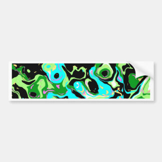 Green Eyed Abstract Bumper Sticker