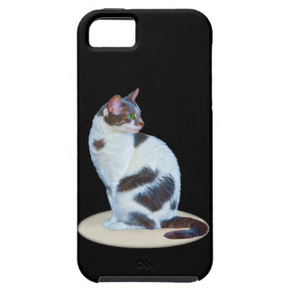 Green-eyed Black and White Cat iPhone 5 Cover