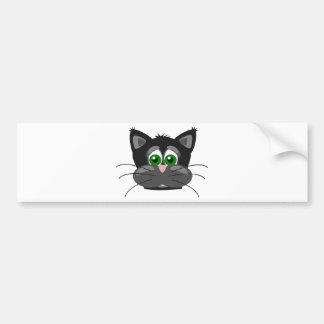 Green-eyed black Cat Bumper Sticker