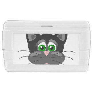 Green-eyed black Cat Chest Cooler