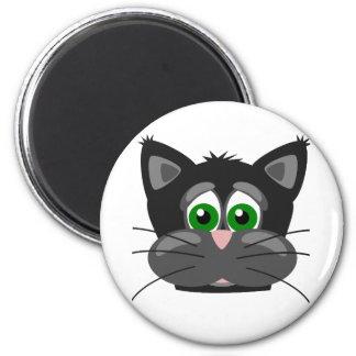 Green-eyed black Cat Magnet