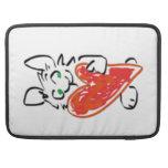 Green Eyed Bunny Rabbit with Heart MacBook Pro Sleeve