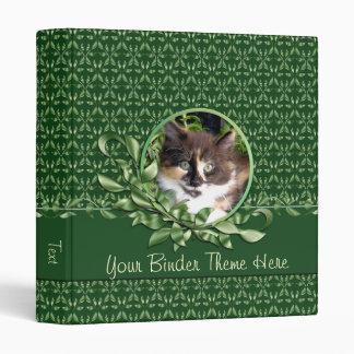 Green Eyed Calico Kitten 1 Inch Binder