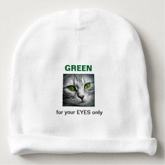 green eyed cat baby beanie