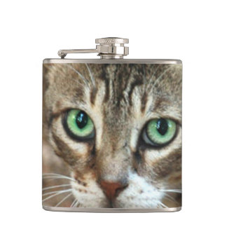 Green Eyed Cat Flask
