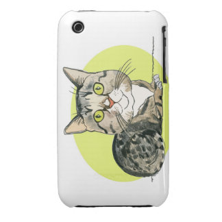 Green-eyed Cat iPhone 3 Case-Mate Cases