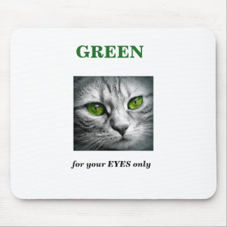 green eyed cat mouse pad
