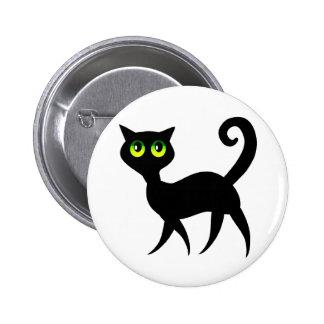Green Eyed Cat Pinback Button