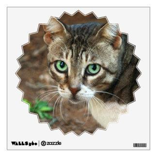 Green Eyed Cat Wall Sticker