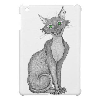 Green Eyed Creepy Cat iPad Mini Cover