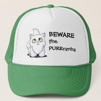 Green Eyed Cutie Face Kitty Trucker Hat