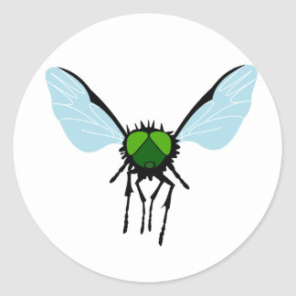 Green-eyed Fly Classic Round Sticker
