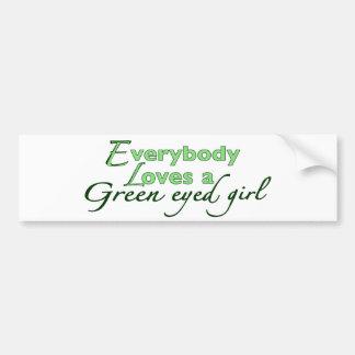 Green Eyed Girl Bumper Stickers