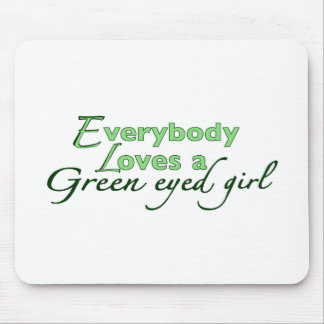 Green Eyed Girl Mouse Pad