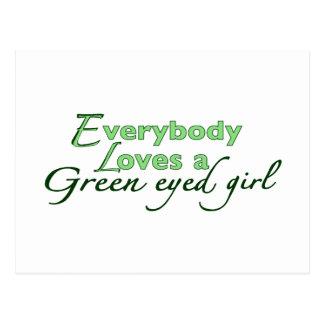 Green Eyed Girl Postcard