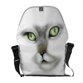 Green Eyed Kitty Courier Bag