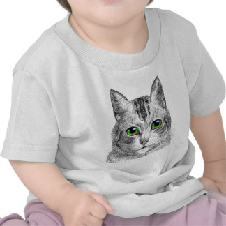 Green Eyed Kitty Infant Tee