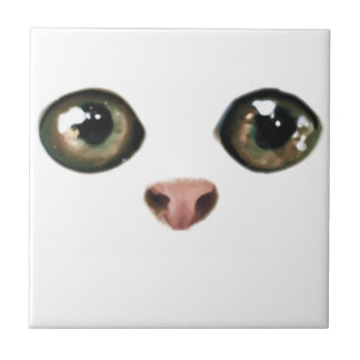 Green Eyed Kitty Is Cute Tile