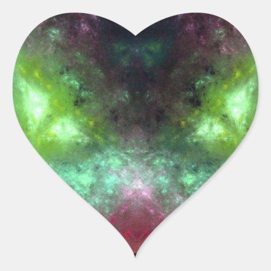 Green-Eyed Monster Heart Sticker