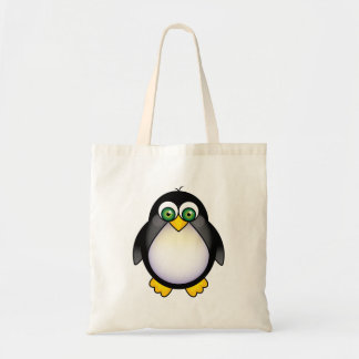 Green Eyed Penguin Cartoon Bag