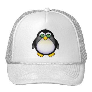 Green Eyed Penguin Cartoon Mesh Hats