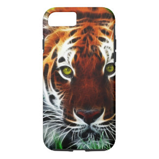 Green eyed Tiger iPhone 7 Case