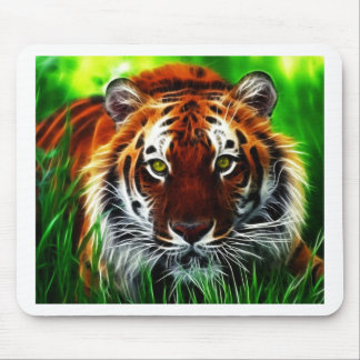 Green eyed Tiger Mouse Pad
