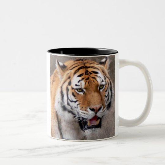 green eyed wonder Two-Tone coffee mug