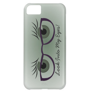 Green Eyes and Glasses Cover For iPhone 5C
