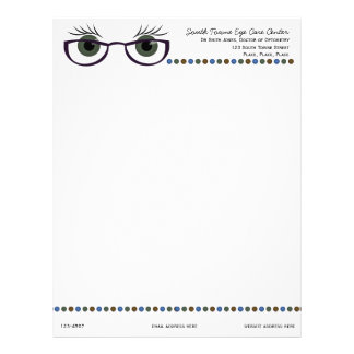 Green Eyes and Glasses Letterhead