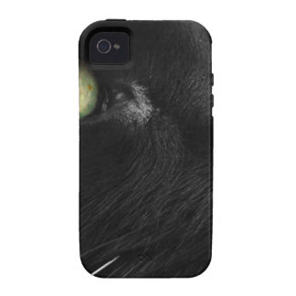 Green Eyes - Black Cat iPhone 4/4S Case