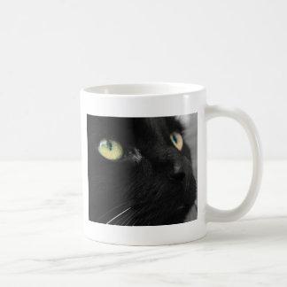 Green Eyes - Black Cat Coffee Mug