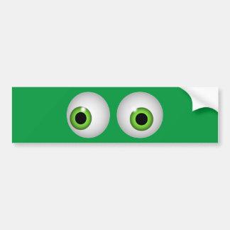 Green Eyes Bumper Sticker