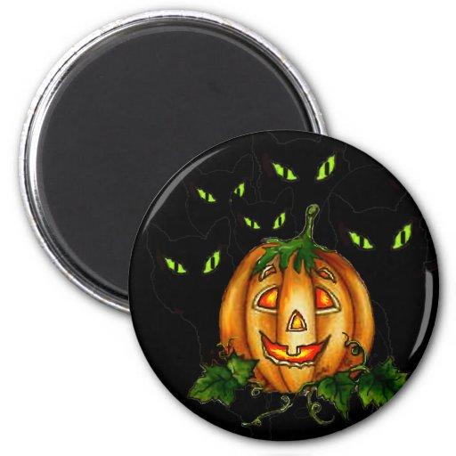 GREEN EYES by SHARON SHARPE 2 Inch Round Magnet