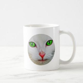 Green Eyes Cat Coffee Mug
