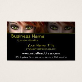 Green Eyes D2 - Fantasy Business Cards