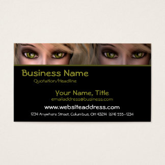 Green Eyes D3 - Fantasy Business Cards